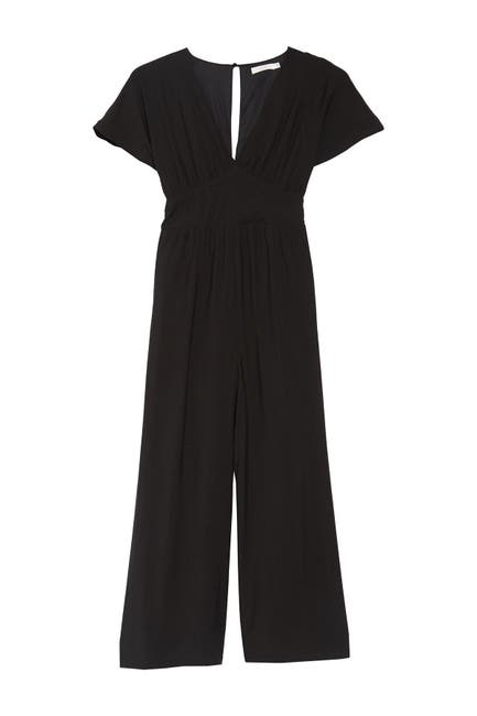 Image of Lush Short Sleeve Empire Jumpsuit