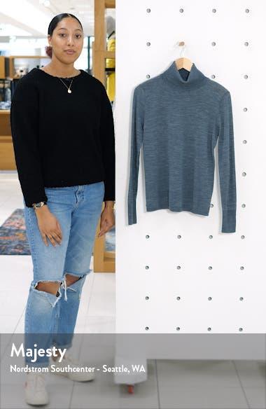 Turtleneck Merino Wool Blend Sweater, sales video thumbnail