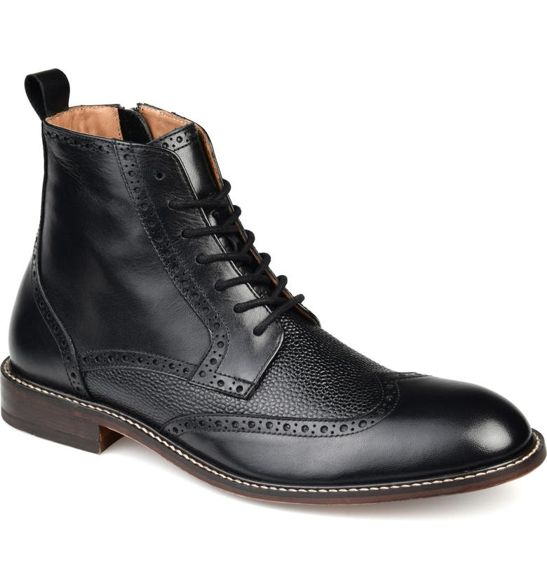 THOMAS & VINE Legend Wingtip Boot, Main, color, BLACK