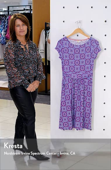Amelie Print Jersey Dress, sales video thumbnail
