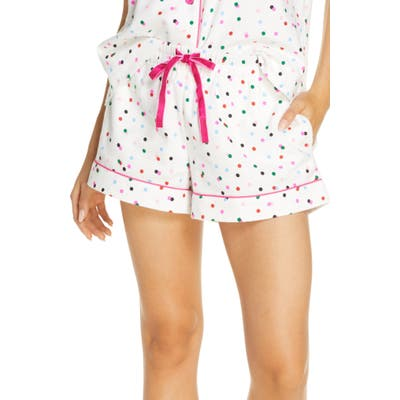 Ban. do Party Dots Flannel Pajama Shorts, Ivory