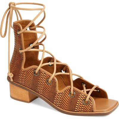 Stella Mccartney Maia Cage Ankle Tie Sandal - Brown