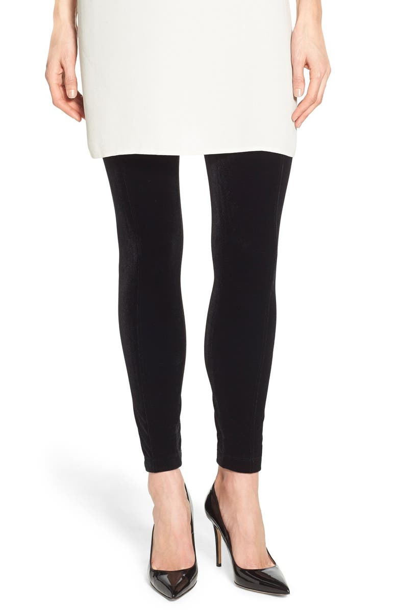LYSSÉ Mara Velvet Leggings, Main, color, 001