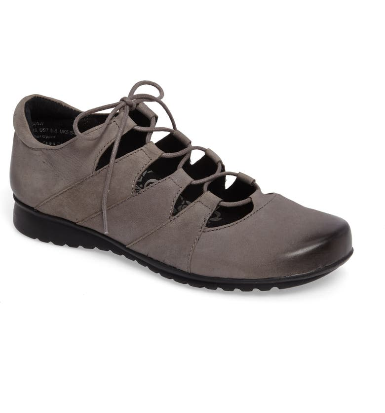 AETREX Sienna Cutout Sneaker, Main, color, GUNMETAL LEATHER