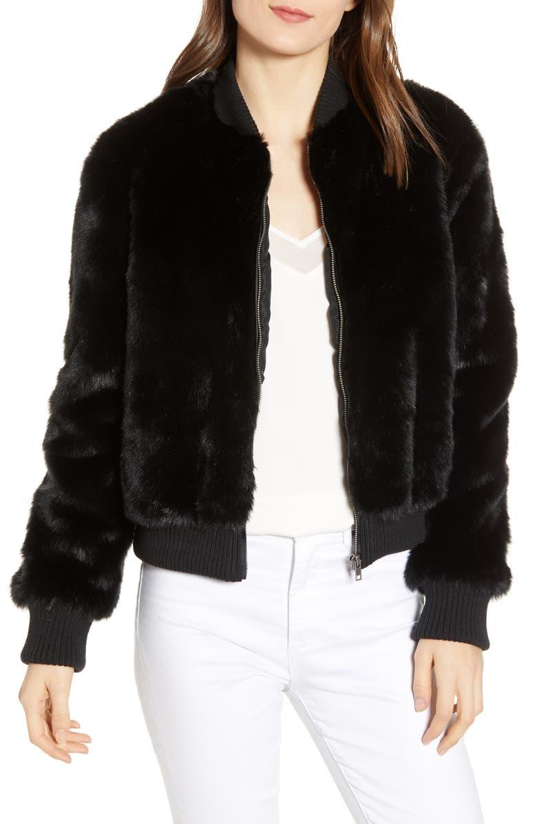 2ca74f9dd Amy Faux Fur Bomber Jacket