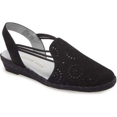 David Tate Zena Espadrille Wedge, Black