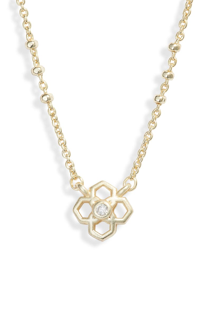 KENDRA SCOTT Rue Pendant Necklace, Main, color, GOLD/ WHITE CZ