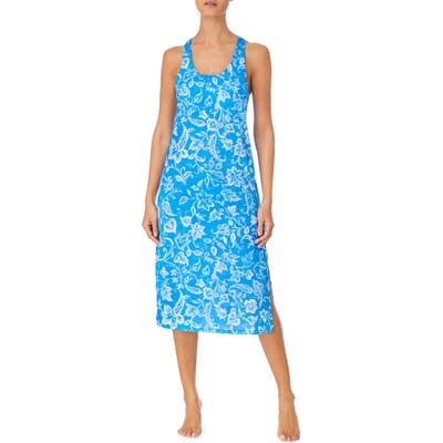 Lauren Ralph Lauren Twist Back Nightgown, Blue