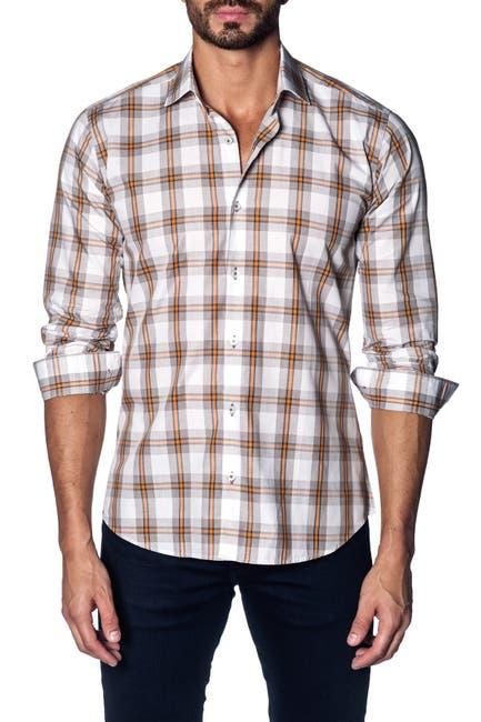 Image of Jared Lang Plaid Slim Fit Shirt