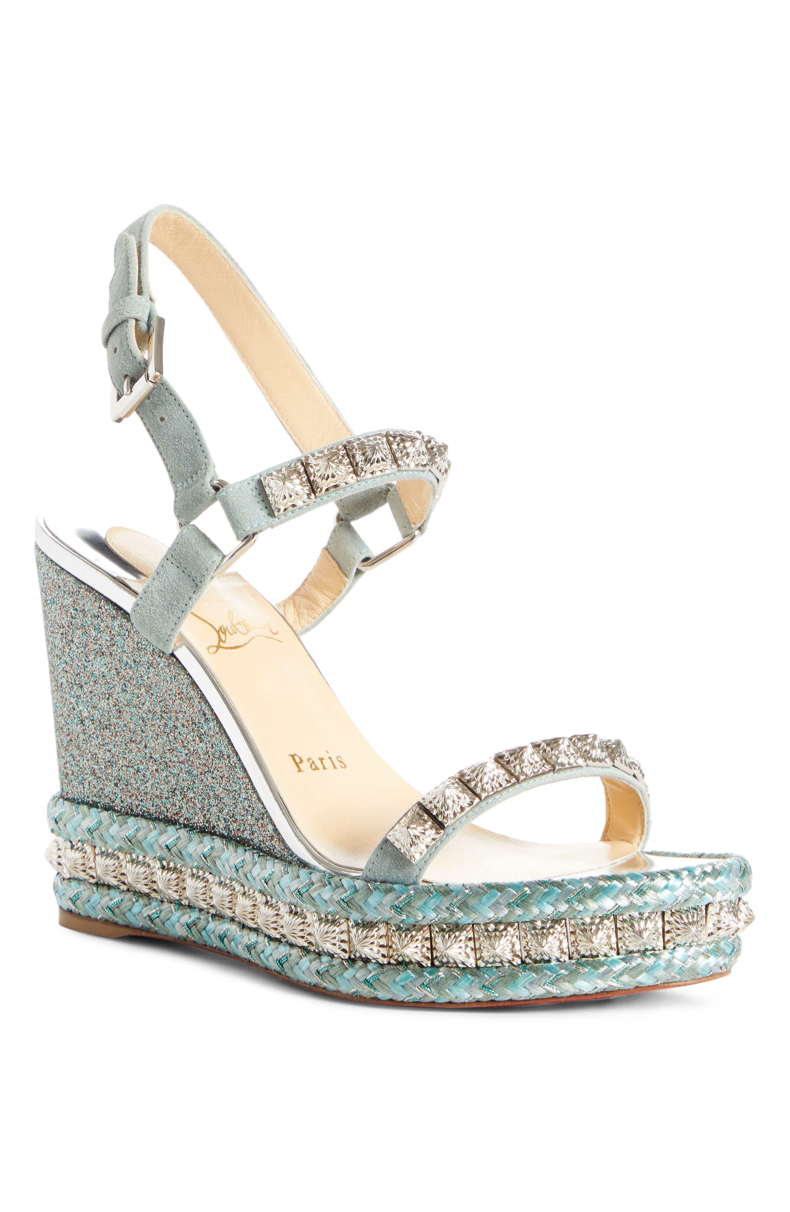 Christian Louboutin Pyradiams Platform Wedge Sandal (Women)