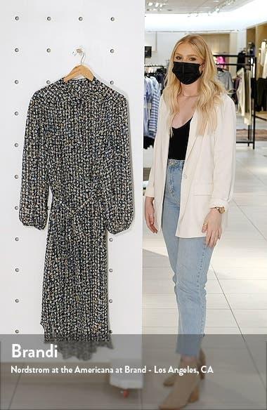 Abstract Print Long Sleeve Shirtdress, sales video thumbnail