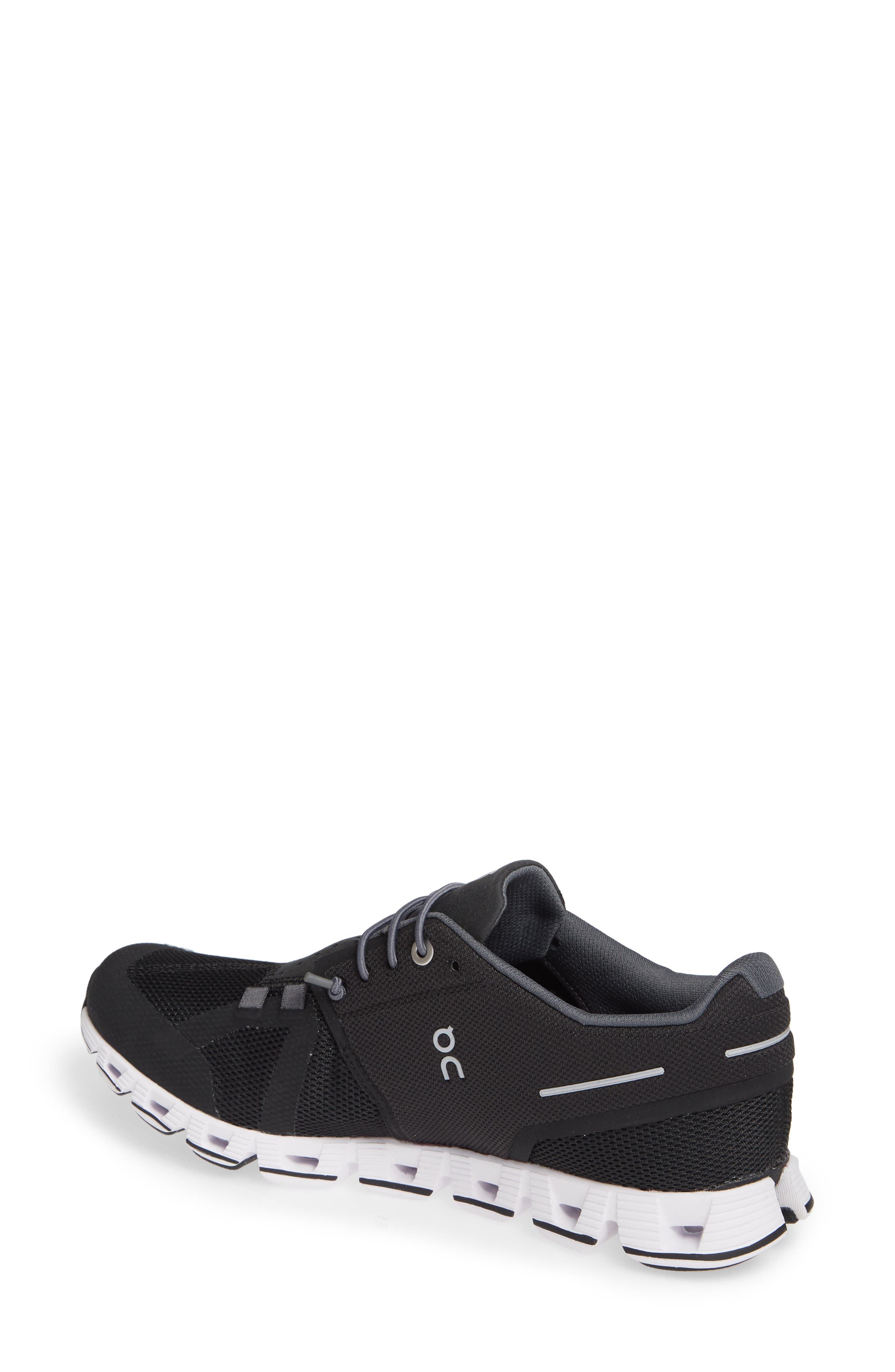 ,                             Cloud Running Shoe,                             Alternate thumbnail 2, color,                             BLACK/ WHITE