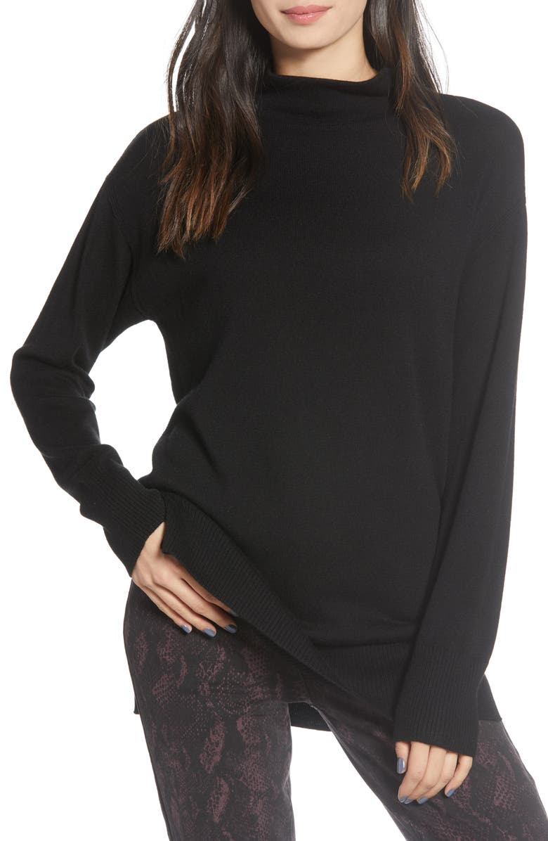 CHELSEA28 Funnel Neck Sweater, Main, color, 001
