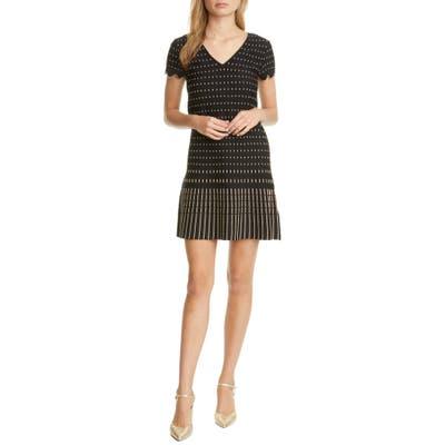 Ted Baker London Maciiey Stitch Detail Knit Dress, (fits like 00 US) - Black