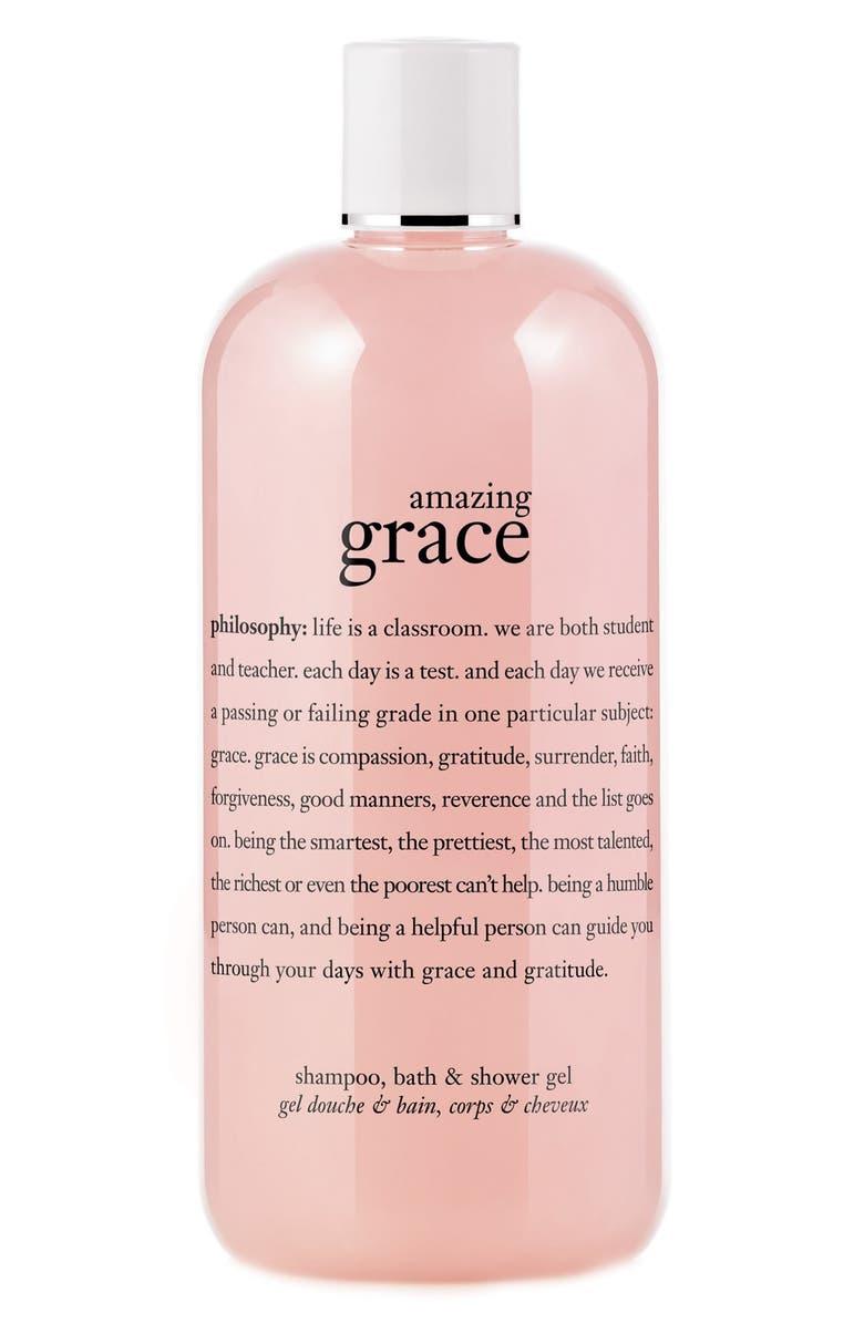 PHILOSOPHY 'amazing grace' shampoo, bath & shower gel, Main, color, 000