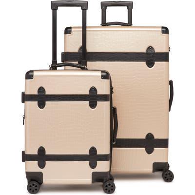 Calpak 20-Inch & 28-Inch Trunk Rolling Luggage Set - Beige