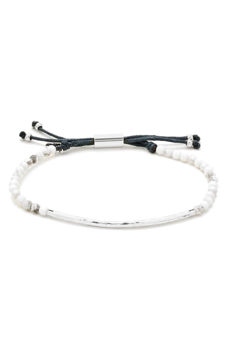 GORJANA Power Gemstone Self-Wisdom Bracelet, Main, color, CALMING/ HOWLITE/ SILVER