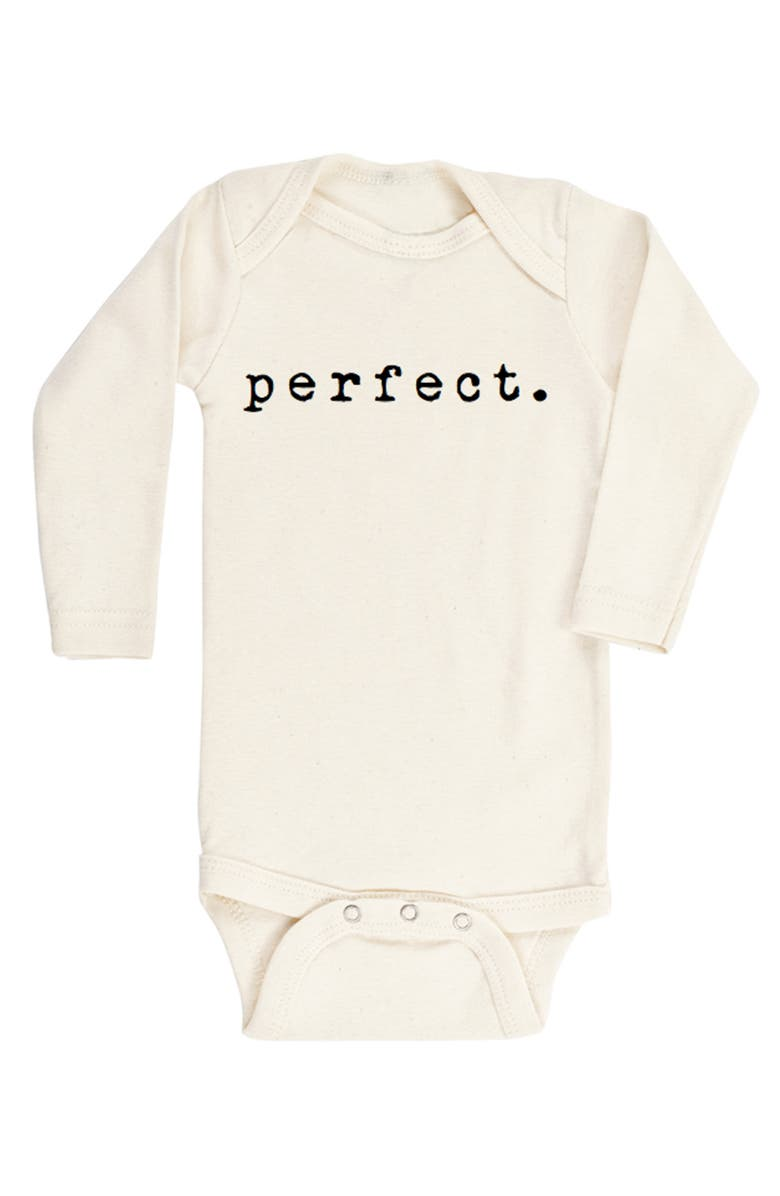 TENTH & PINE Perfect Organic Cotton Bodysuit, Main, color, NATURAL