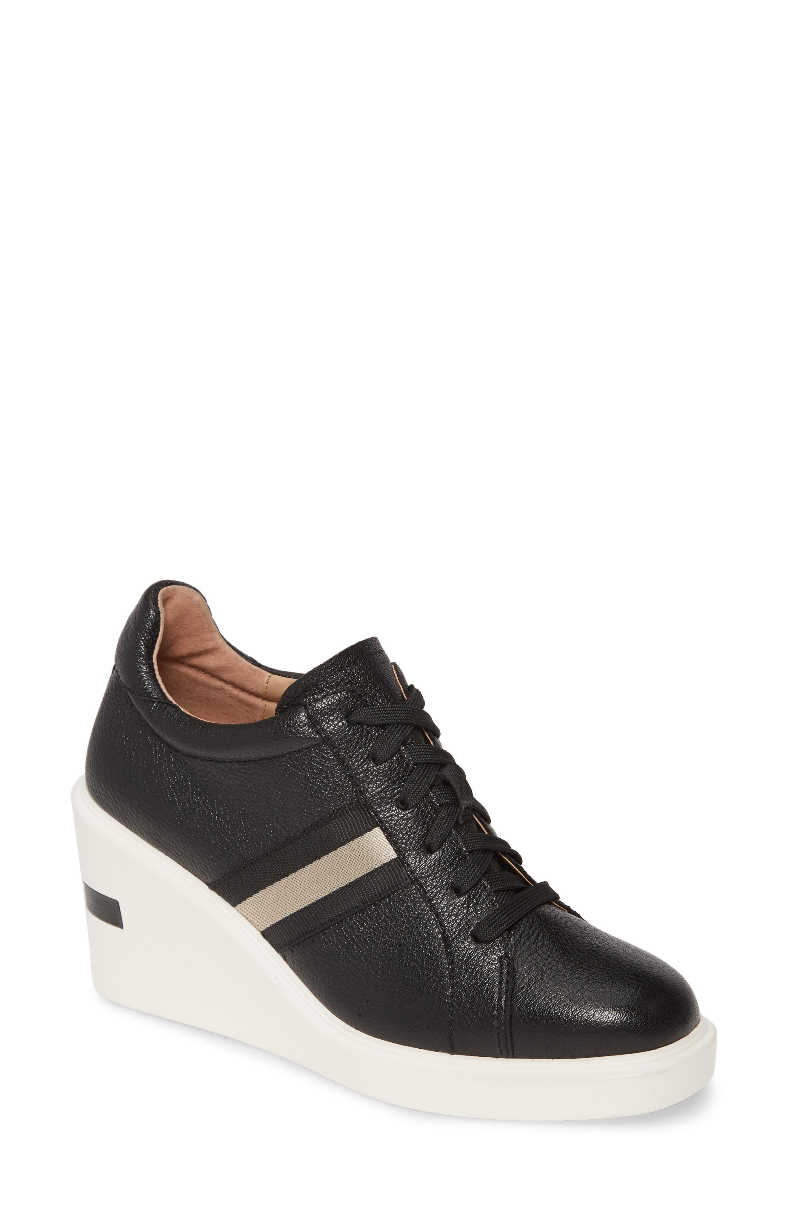 Linea Paolo Kandis Wedge Sneaker, Black