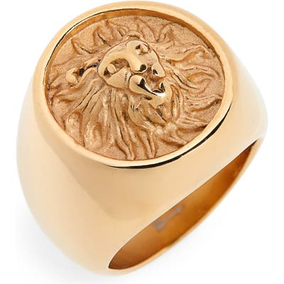 Ellie Vail Lion Signet Ring