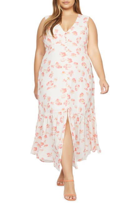 Image of Sanctuary Perfect Melody Floral Slit Midi Dress