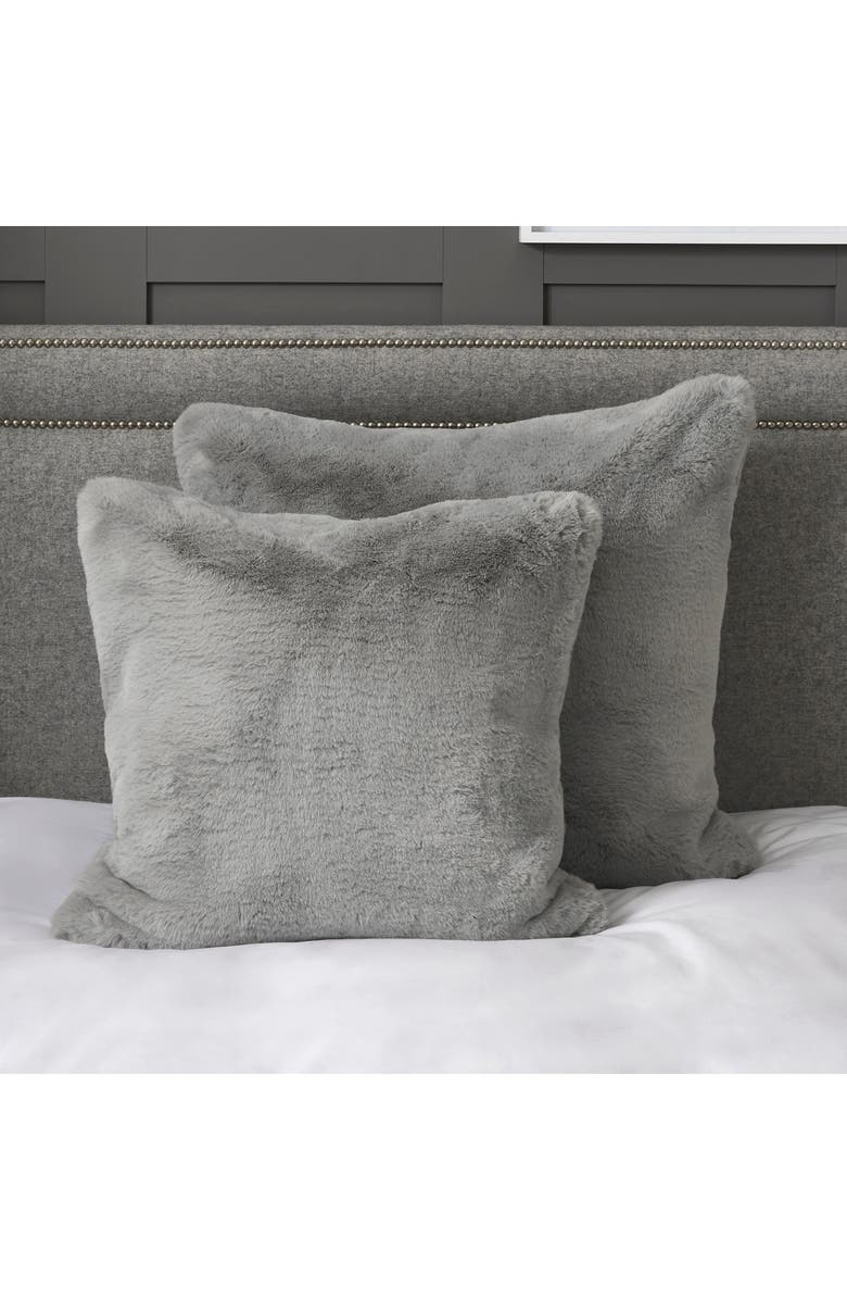 THE WHITE COMPANY Faux Fur Cushion Cover, Main, color, 020