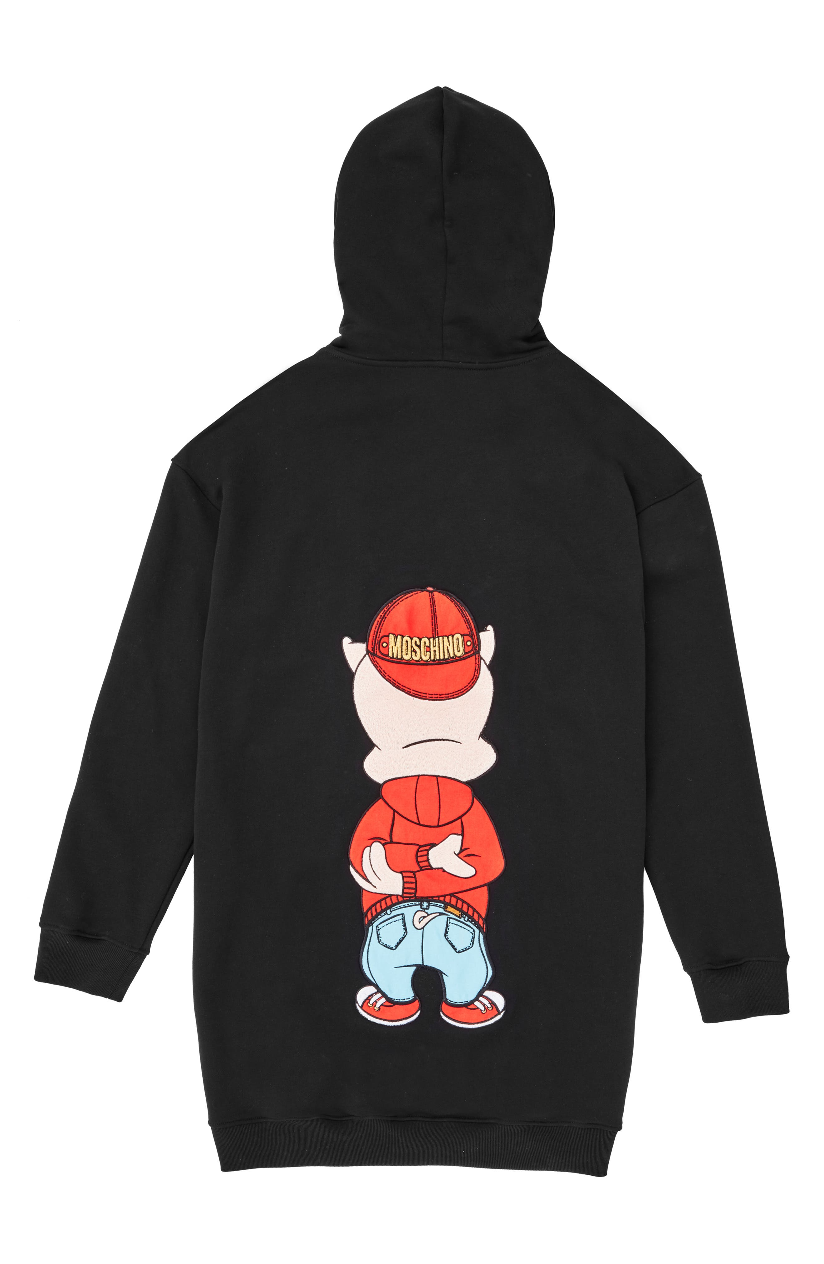 ,                             Porky Pig Graphic Hoodie,                             Alternate thumbnail 2, color,                             BLACK