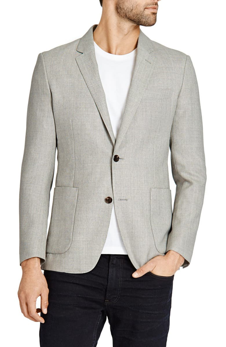 BONOBOS Trim Fit Wool Blazer, Main, color, 020