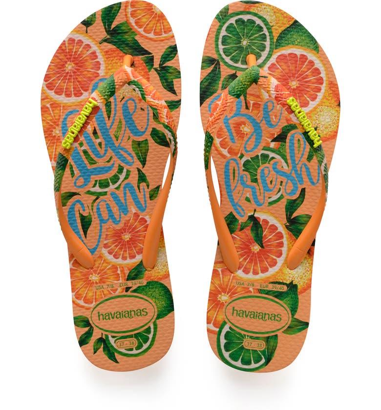 HAVAIANAS 'Slim Paradisio' Sandal, Main, color, LIGHT ORANGE