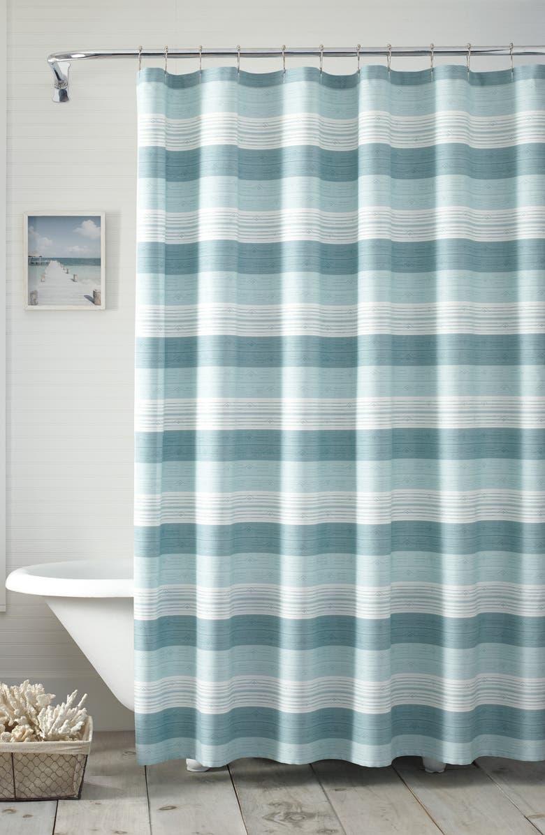 TOMMY BAHAMA Hula Beach Shower Curtain, Main, color, TRANQUIL BLUE