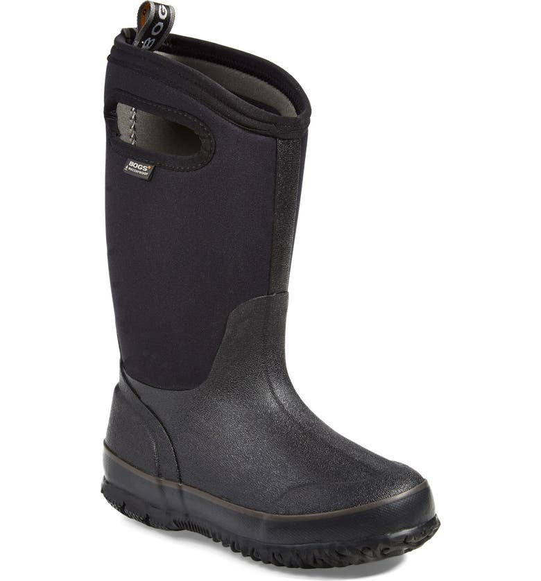 BOGS Classic High Waterproof Boot, Main, color, BLACK