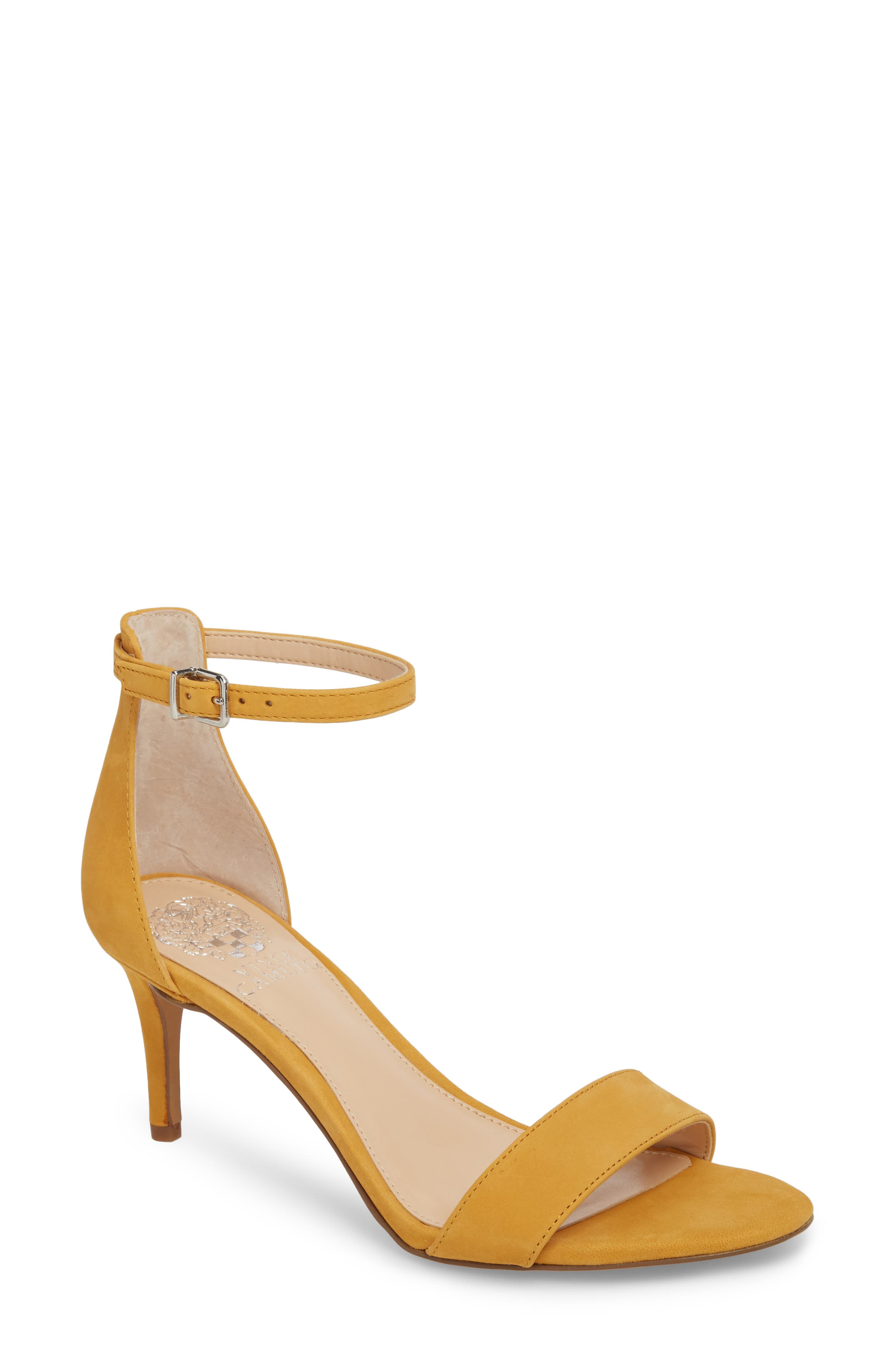 A slender heel adds just-right height to a barely there sandal topped with a dainty ankle strap. Style Name: Vince Camuto Sebatini Sandal (Women). Style Number: 5537278. Available in stores.