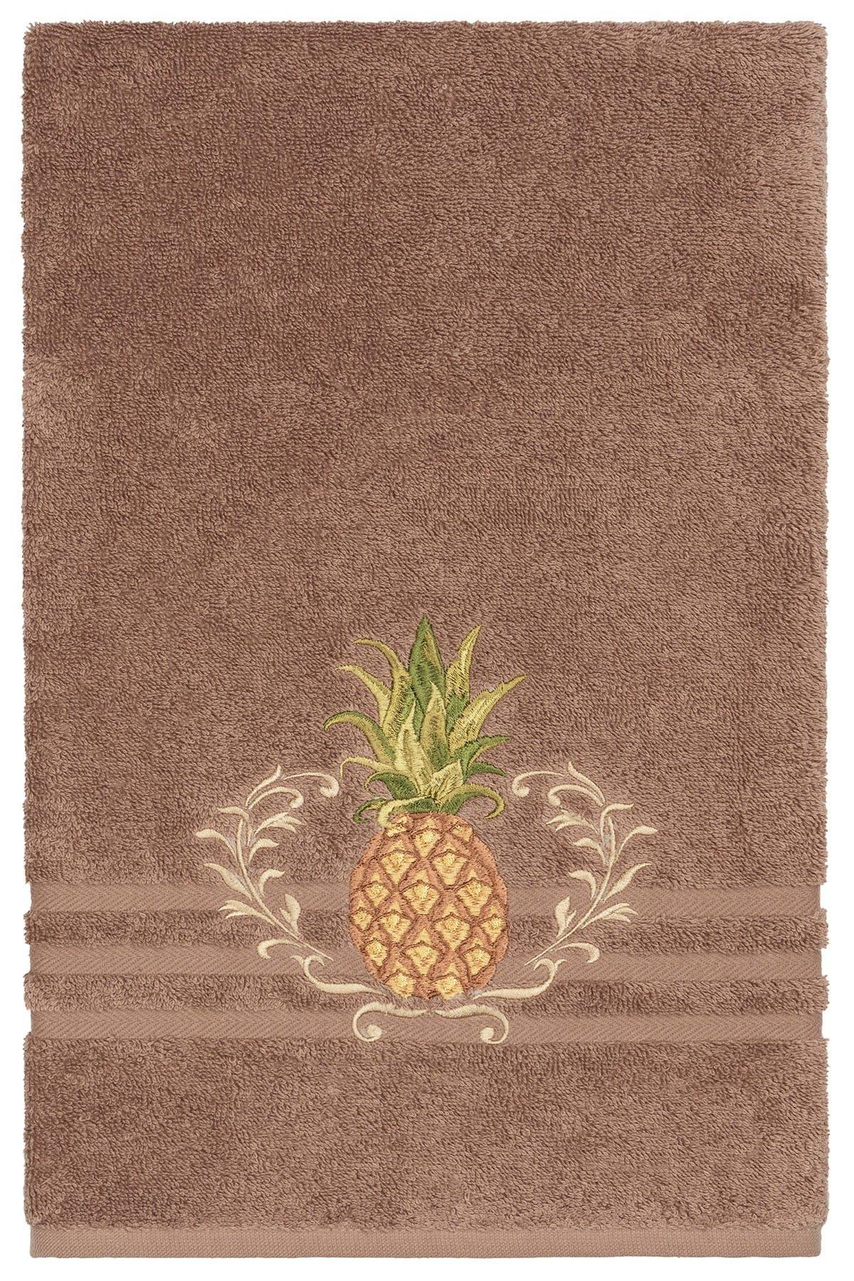Image of LINUM HOME Welcome 3-Piece Embellished Towel - Latte