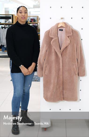 Long Faux Shearling Coat, sales video thumbnail