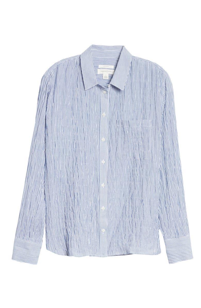TREASURE & BOND Breezy Boyfriend Shirt, Main, color, BLUE- WHITE BRITT STRIPE