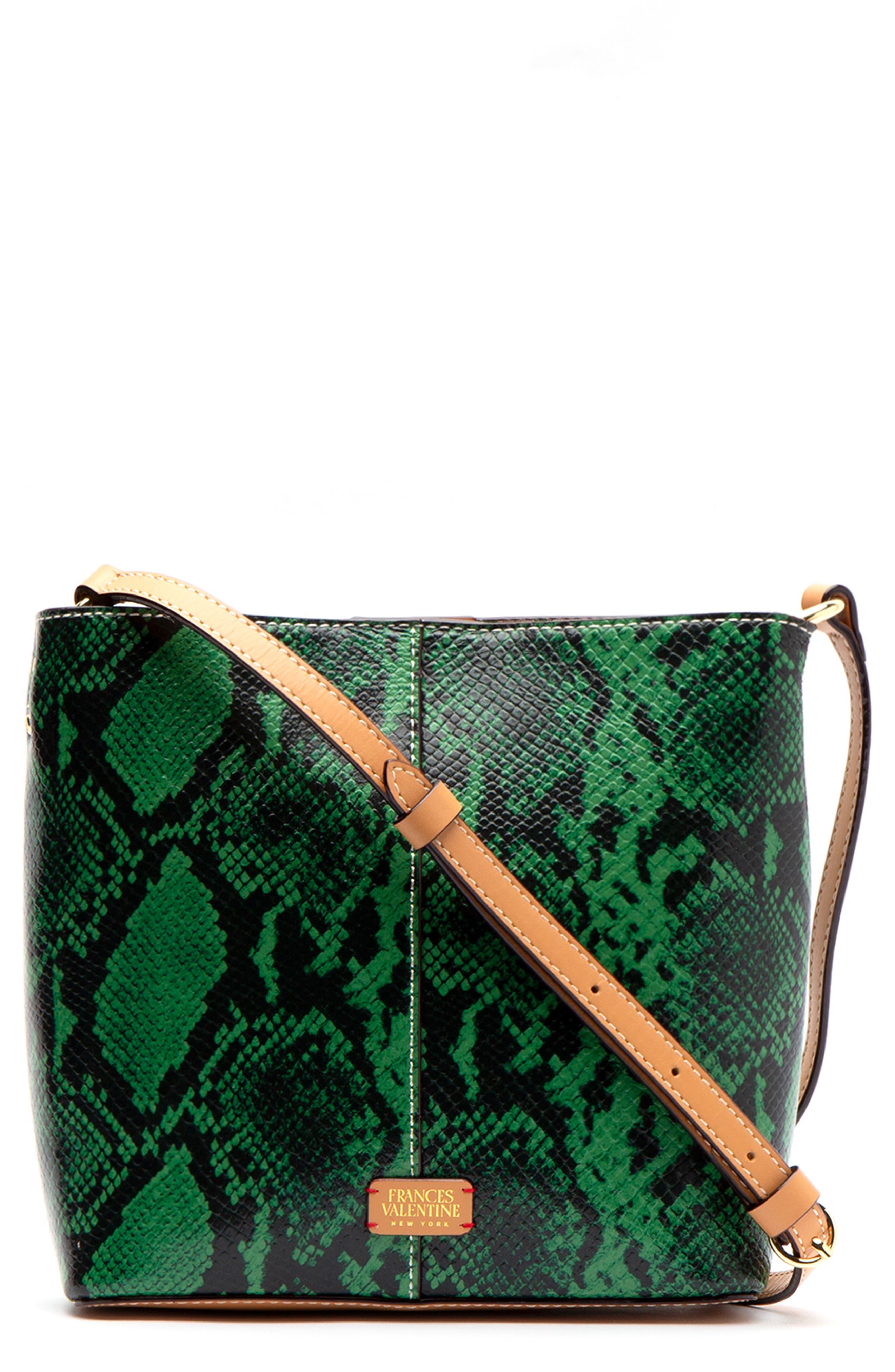 Small Finn Snake Embossed Crossbody Bag