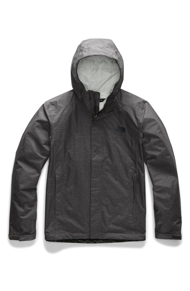 THE NORTH FACE Venture II Raincoat, Main, color, TNF DARK GREY HEATHER