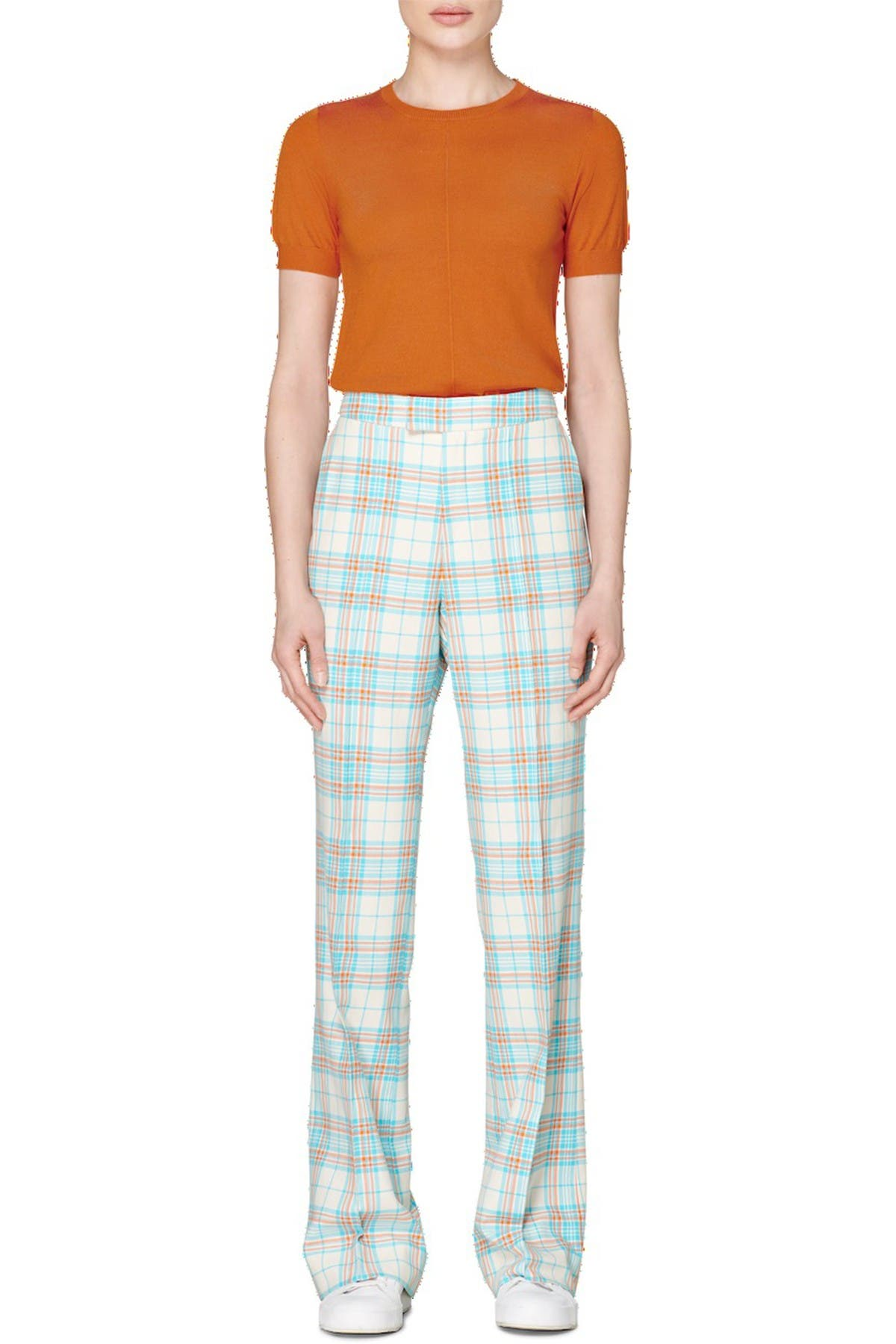 Image of SUISTUDIO Ally Check Print Trousers