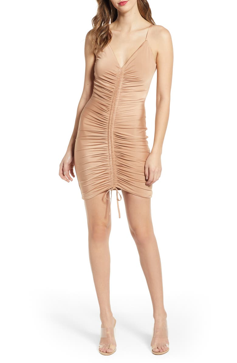 TIGER MIST Sasha Dress, Main, color, NUDE