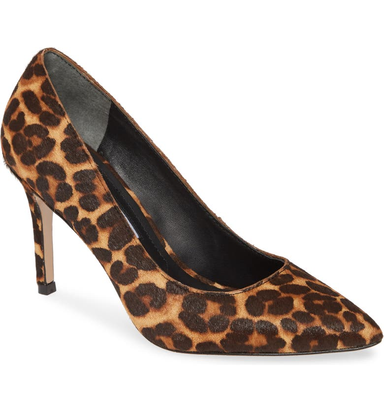CHARLES DAVID Vibe Genuine Calf Hair Pump, Main, color, LEOPARD PRINT LEATHER