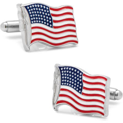 Cufflinks, Inc. Waving American Flag Cuff Links