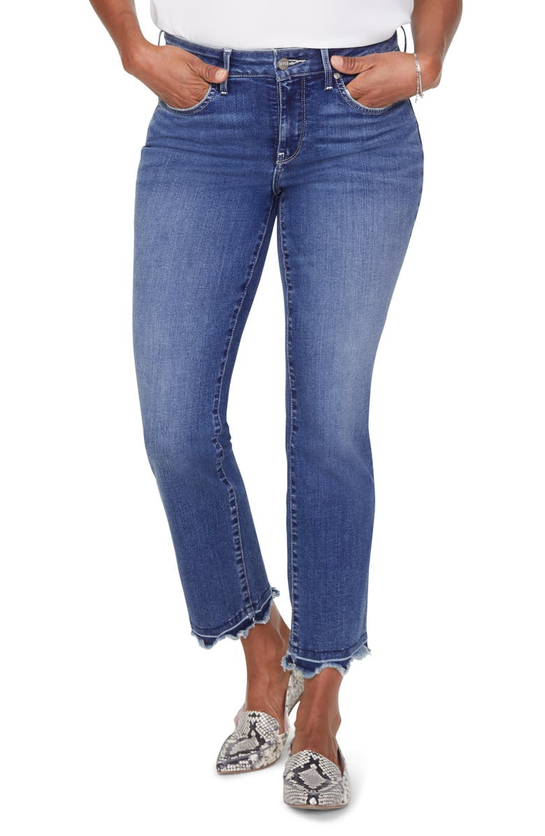 NYDJ Marilyn Chewed Hem Ankle Jeans, Main, color, ALTON CHEWED HEM