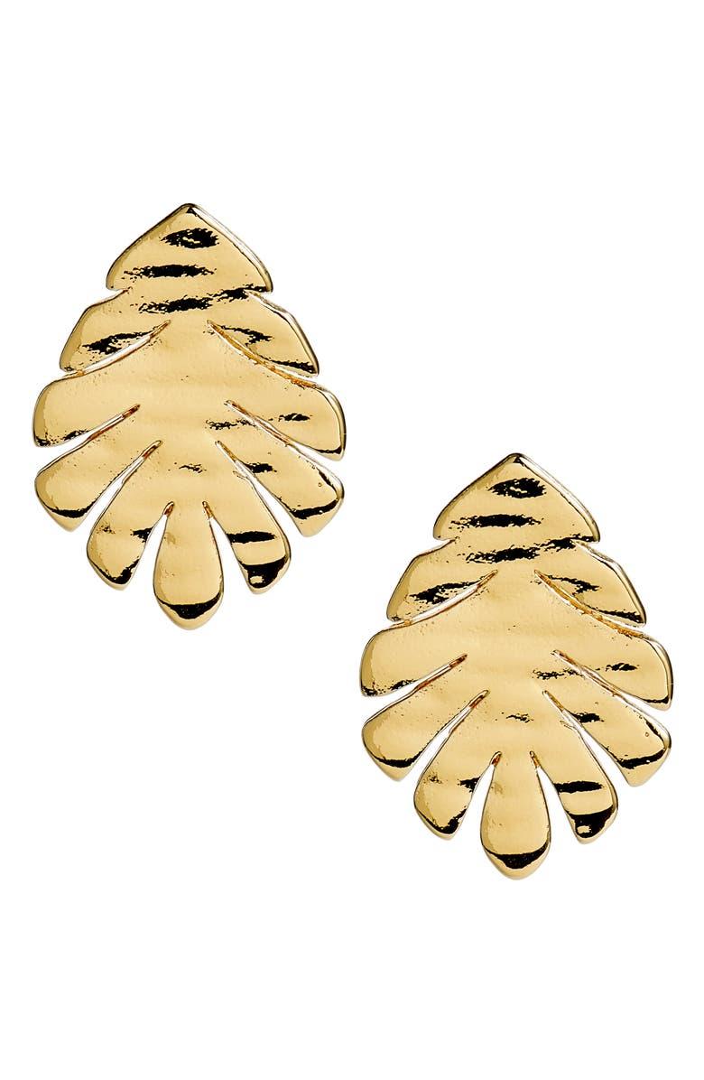 631784cd2b738 a new leaf stud earrings