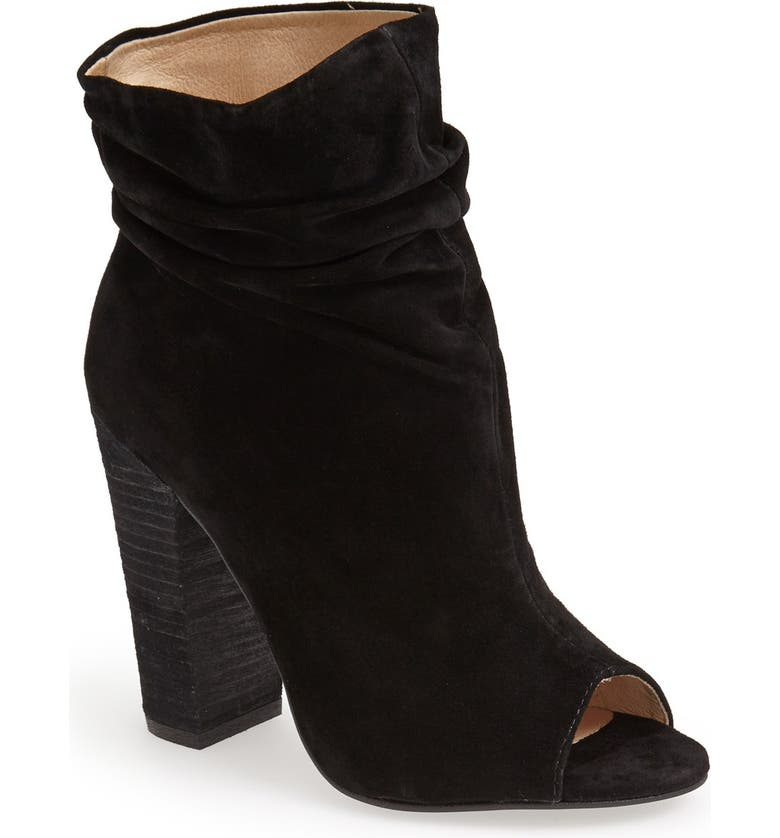 KRISTIN CAVALLARI 'Laurel' Peep Toe Bootie, Main, color, 001