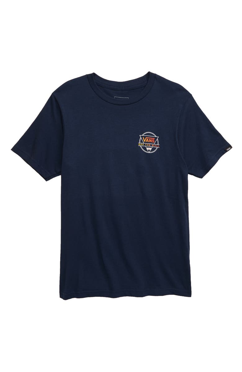 VANS Tricircle Logo T-Shirt, Main, color, DRESS BLUES