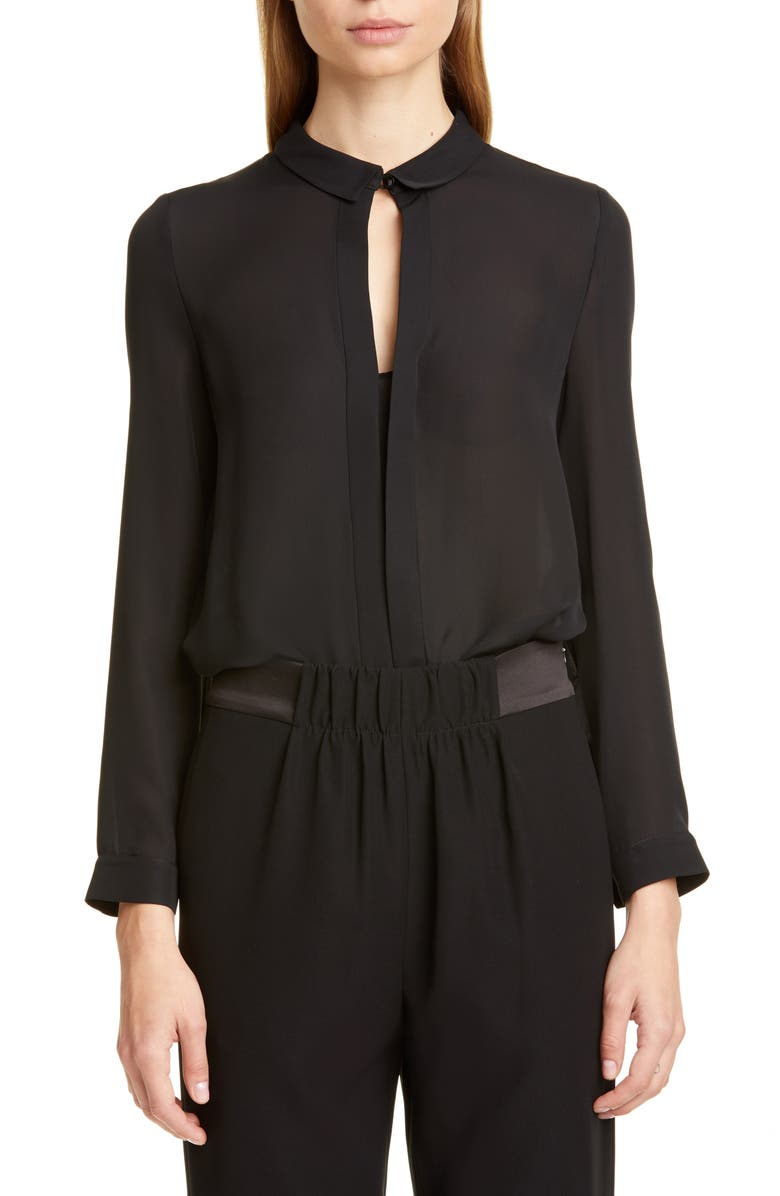 Emporio Armani Double Silk Georgette Blouse