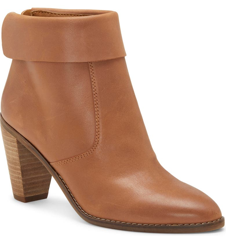 LUCKY BRAND Nycott Leather Bootie, Main, color, LATTE LEATHER