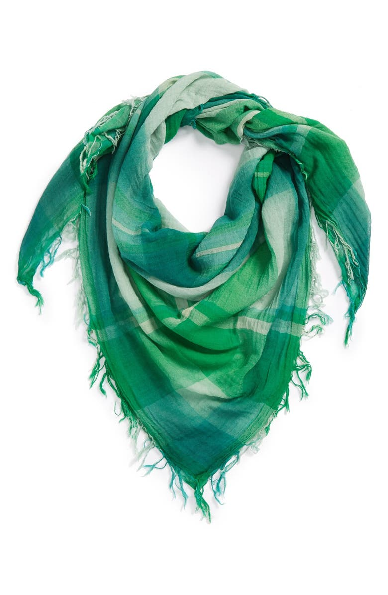 MARC BY MARC JACOBS 'Spray Plaid' Yarn Dyed Scarf, Main, color, 300