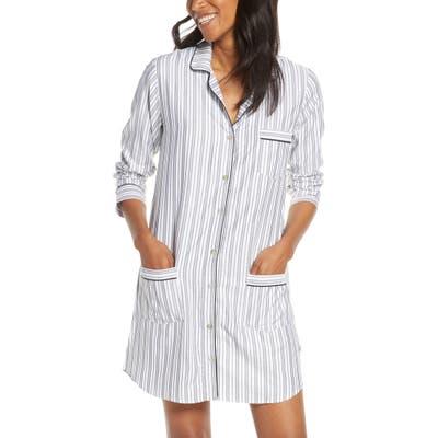 Ugg Stripe Flannel Sleep Shirt, Beige