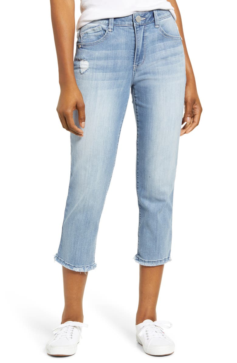WIT & WISDOM Luxe Touch High Waist Crop Jeans, Main, color, LIGHT BLUE